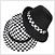 챙이 둥글게 달린 신사용의 모자
