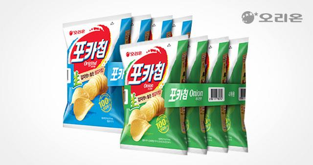 포카칩 오리지널8봉지+어니언8봉지