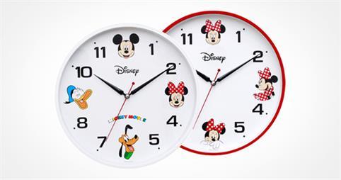 미키&미니 디즈니 무소음 시계