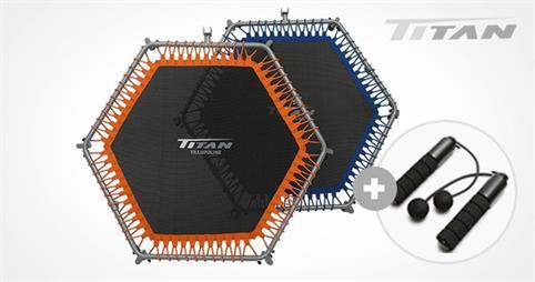 타이탄 점핑피트니스 육각트램폴린
