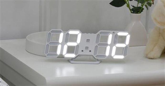 3D 미니 LED 벽시계/탁상시계