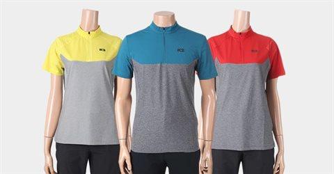 아이스 반팔 짚업 티셔츠