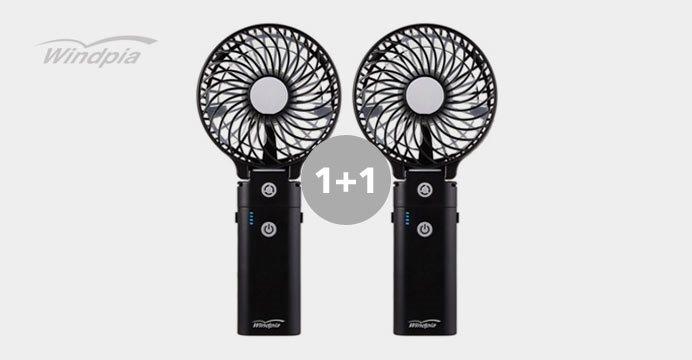 [윈드피아] 핸디형 보조배터리 선풍기 1+1
