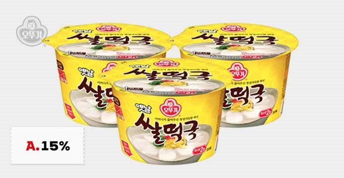 [15%쿠폰]오뚜기 옛날 쌀떡국 181.6gX10개