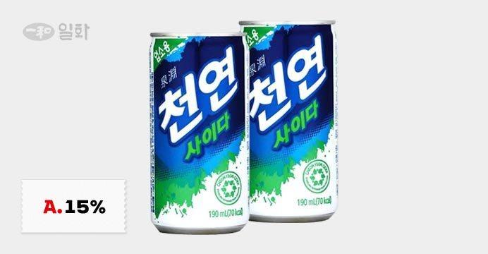 무배 맥콜/천연사이다/탑씨용량별1박스모음