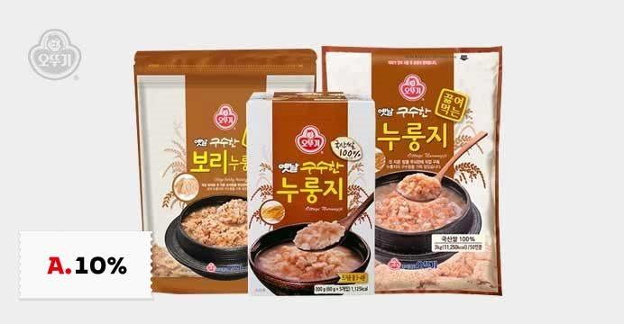 오뚜기 옛날 구수한끓여먹는누룽지3kg외3종