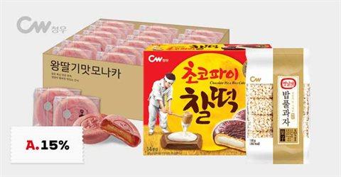 청우 전통과자 /모나카/쌀강정 외