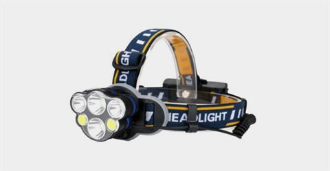 T6 USB충전식 Cob LED 손전등 헤드램프
