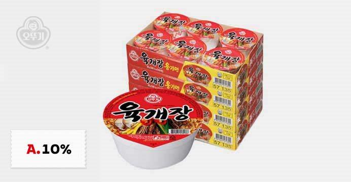 오뚜기 육개장 4박스(총24개)