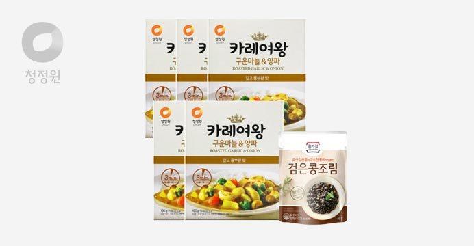 카레여왕 구운마늘양파X5개+검은콩조림