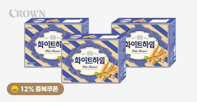 [12%쿠폰]화이트하임 284g 18봉 X3박스