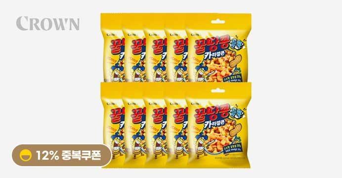 [12%]꿀땅콩 듬뿍 카라멜 팝콘 58gX10봉