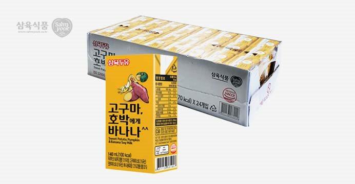 삼육 고구마호박에게바나나 140ml 48팩