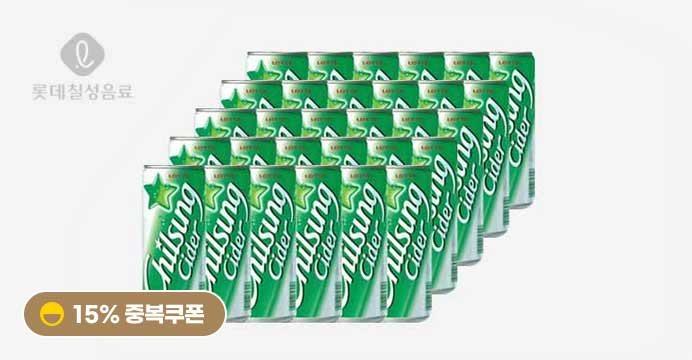 [15%쿠폰]칠성 사이다 210 ml x 30입