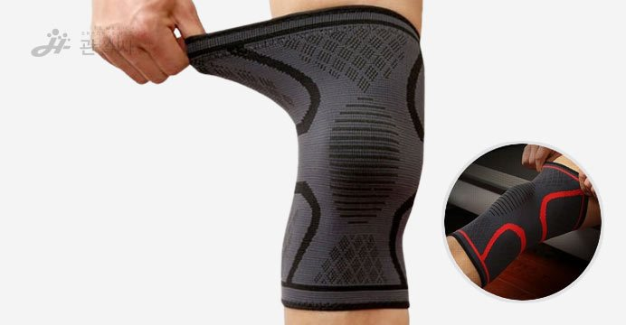 관절사랑 타이트 무릎 보호대 2p 블랙 M