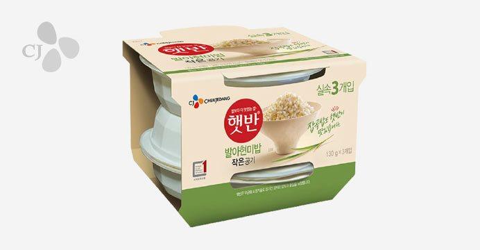 햇반 발아현미밥 작은공기 130g 18개