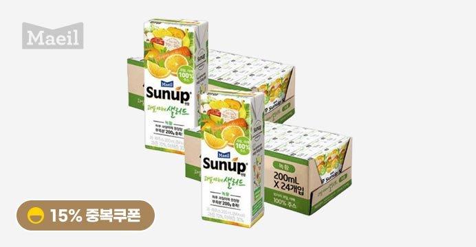 썬업 과일야채샐러드 녹황 48팩