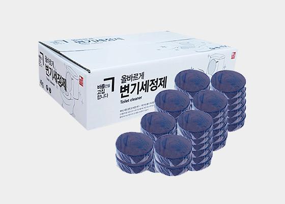 국산 청그린 변기세정제 40알