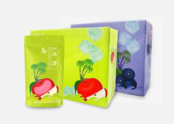 웰그린 스위트카페 아이스 사과 블루베리 230mlX20개