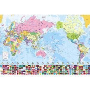 세계지도/우리나라지도/대한민국지도 판매/ 코팅형 택1 교육용/만국기 세계전도