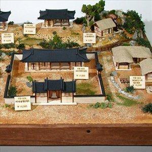한옥마을 디오라마 세트1 나무모형 조립키트 프라모델