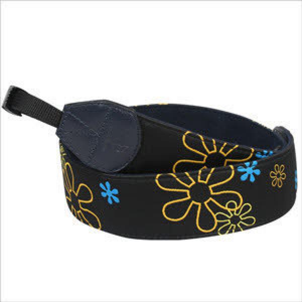 플라워 스트랩(Black)-직조방식으로 꽃문양을 장식한 고급 SLR(필카) 어깨끈/넥스트랩