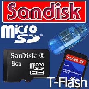 SCH-M490 SCH-M495 T옴니아 [Sandisk]microSDHC8G+카드리더기