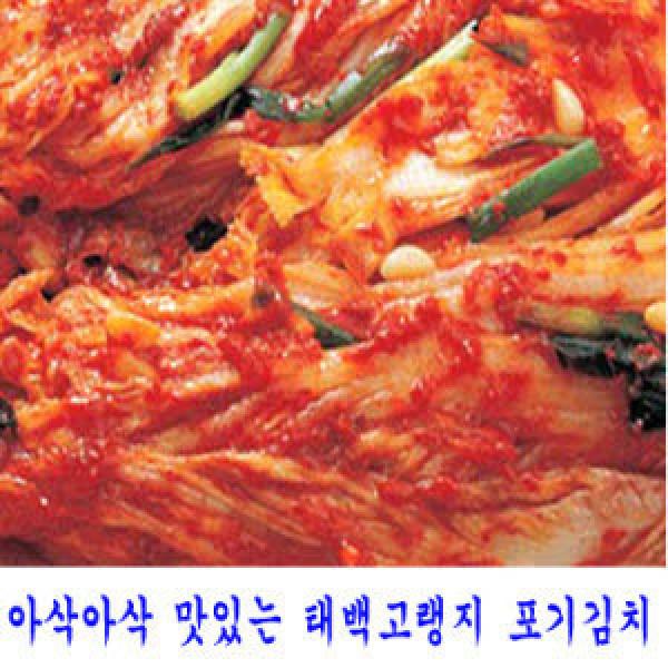 태백골김치/아삭아삭 맛있는 김치(10kg)/태백골김치
