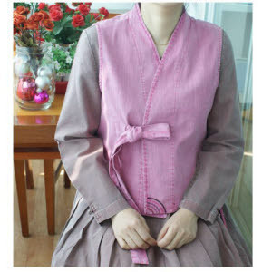 스라브원피스조끼 천연염색/생활한복/개량한복/법복/여름한복/모시한복/아동한복모시/엄마옷