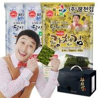 달인 30호 광천김 재래김20봉 파래김20봉선물세트