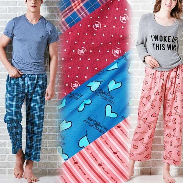 비버리힐즈폴로클럽 체크선염 잠옷바지 파자마 홈웨어