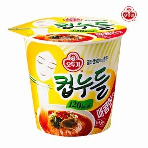 오뚜기 컵누들 매콤한맛37.8g/컵라면 육개장 사발면