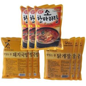묶음상품 소한마리탕3 돼지국밥3 닭개장3 총9ea