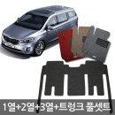 올뉴카니발 확장형 코일 카매트 풀셋+트렁크매트