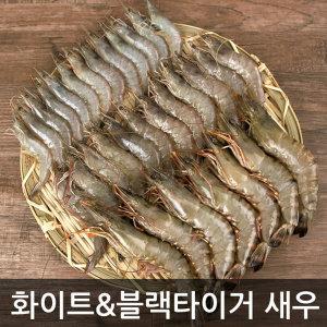 무배 특A급 화이트새우/블랙타이거 500g 50~10미