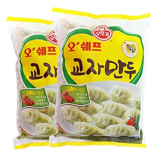 오뚜기오쉐프물만두/교자만두/1.3kgx2봉