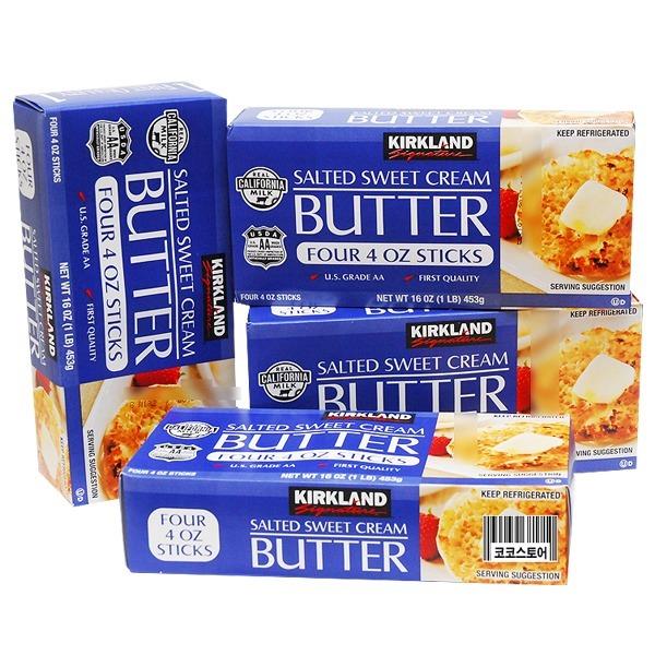 코스트코 커클랜드 가염 버터 453G X 4개 (냉장식품)