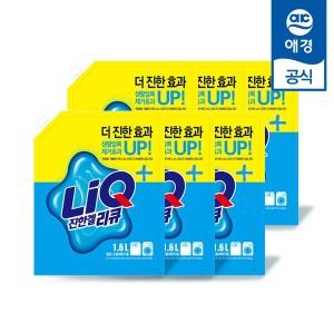 애경 리큐 진한겔 1.6L 리필 6개 (1박스) / 액체세제