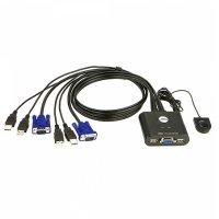 USBKVM VGA 2포트 스위치 KM 공유기 선택기 KVMSWITCH