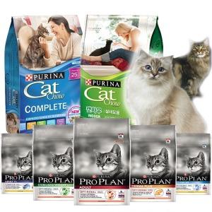 캣차우 7.26~11.3kg 프로플랜2.5kg 고양이사료