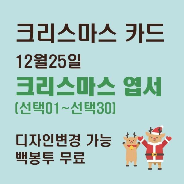 크리스마스/크리스마스카드/성탄절/엽서/무료배송