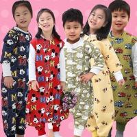 유아 아동 수면조끼 긴팔슬립색 극세사 누빔 기모잠옷