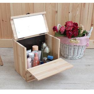 삼나무원목 미니화장대/화장품정리함/보석함