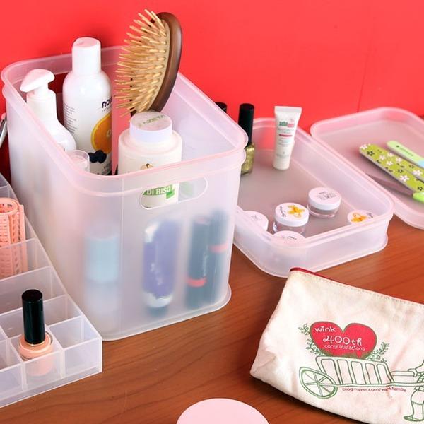 트레이박스  화장품정리함 다용도 소품정리함