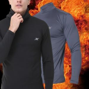 히트온 남성 세라히트/목폴라티셔츠/겨울티셔츠