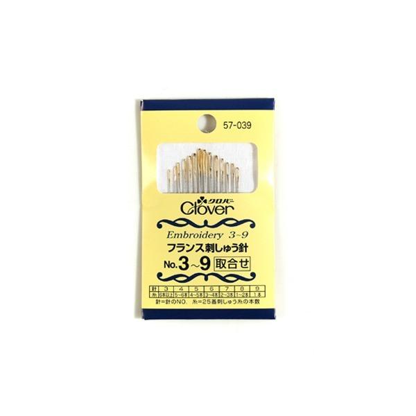 clover 일본 크로바 프랑스자수 바늘세트(3-9호)