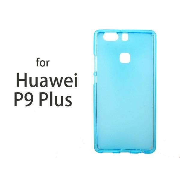 화웨이 P9 Plus 방진 소프트 TPU케이스 반투명 블루