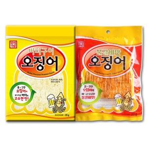 한성 버터구이오징어20g/불갈비맛오징어20g