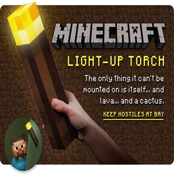 마인크래프트 LED 횃불 촛불 무드등 크리스마스선물