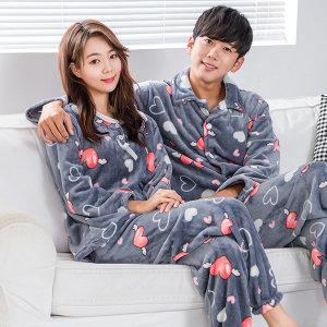 신상 수면 바지 극세사 잠옷 커플 원피스 여성 홈웨어